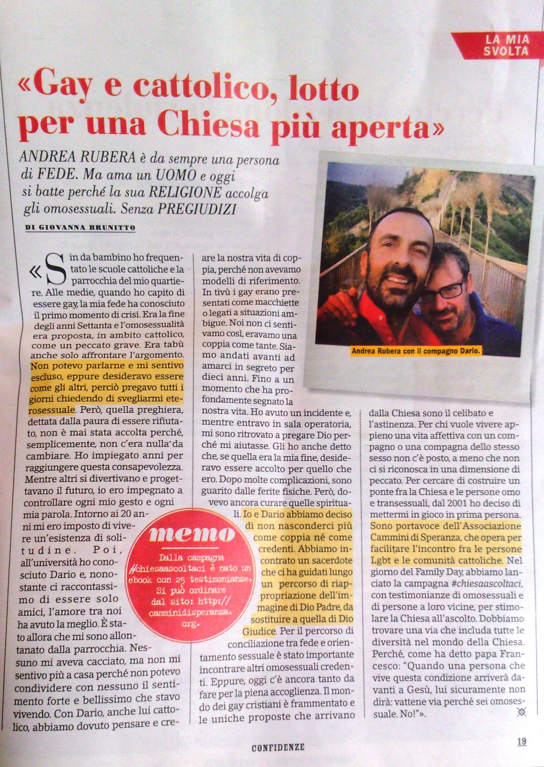 Storia di Andrea Rubera- Gennaio 2017