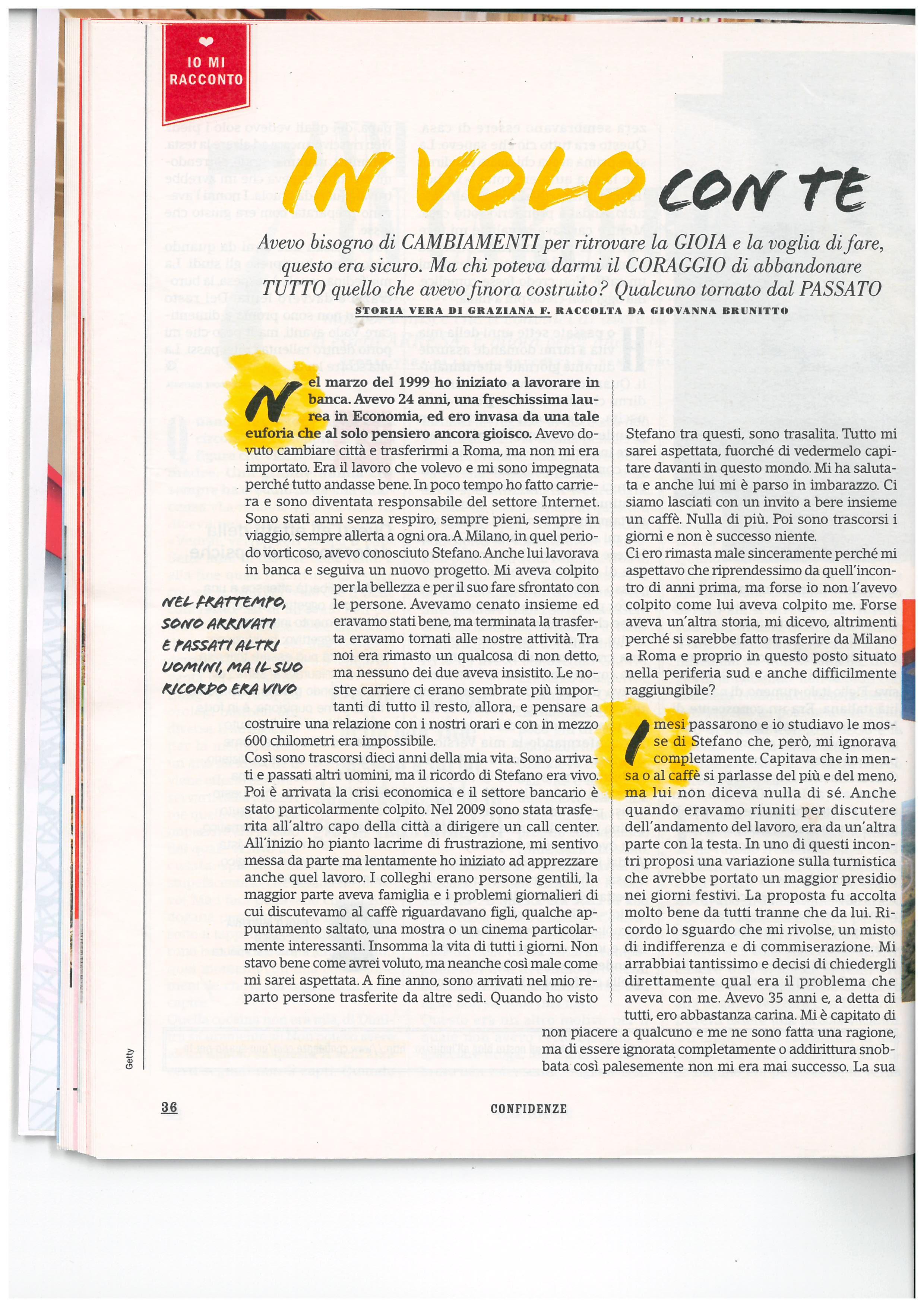 Storia di Graziana - Confidenze nr. 14 - pag. 36 Marzo 2017