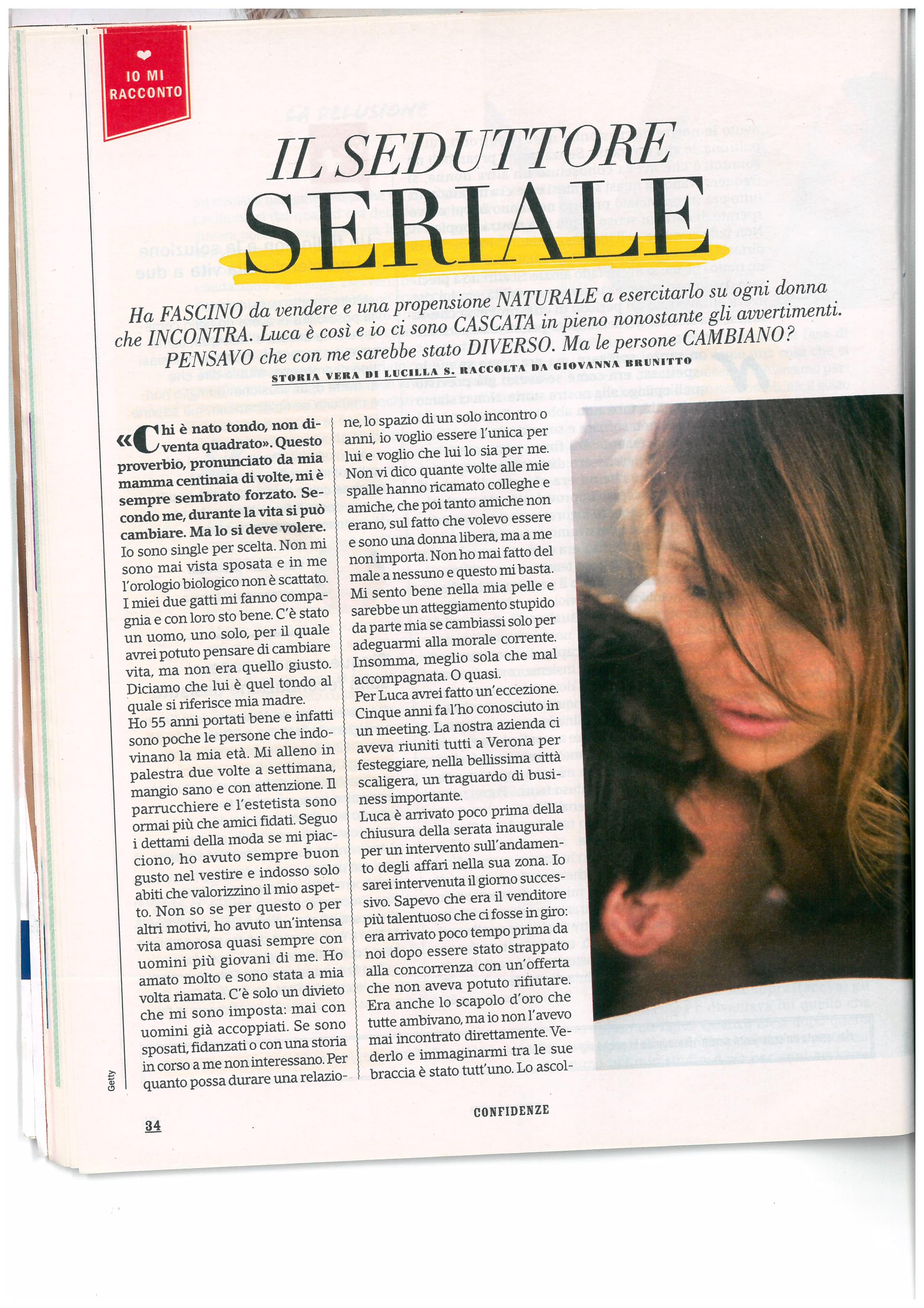 Storia di Lucilla - Confidenze nr. 27 Luglio 2017 pag. 1