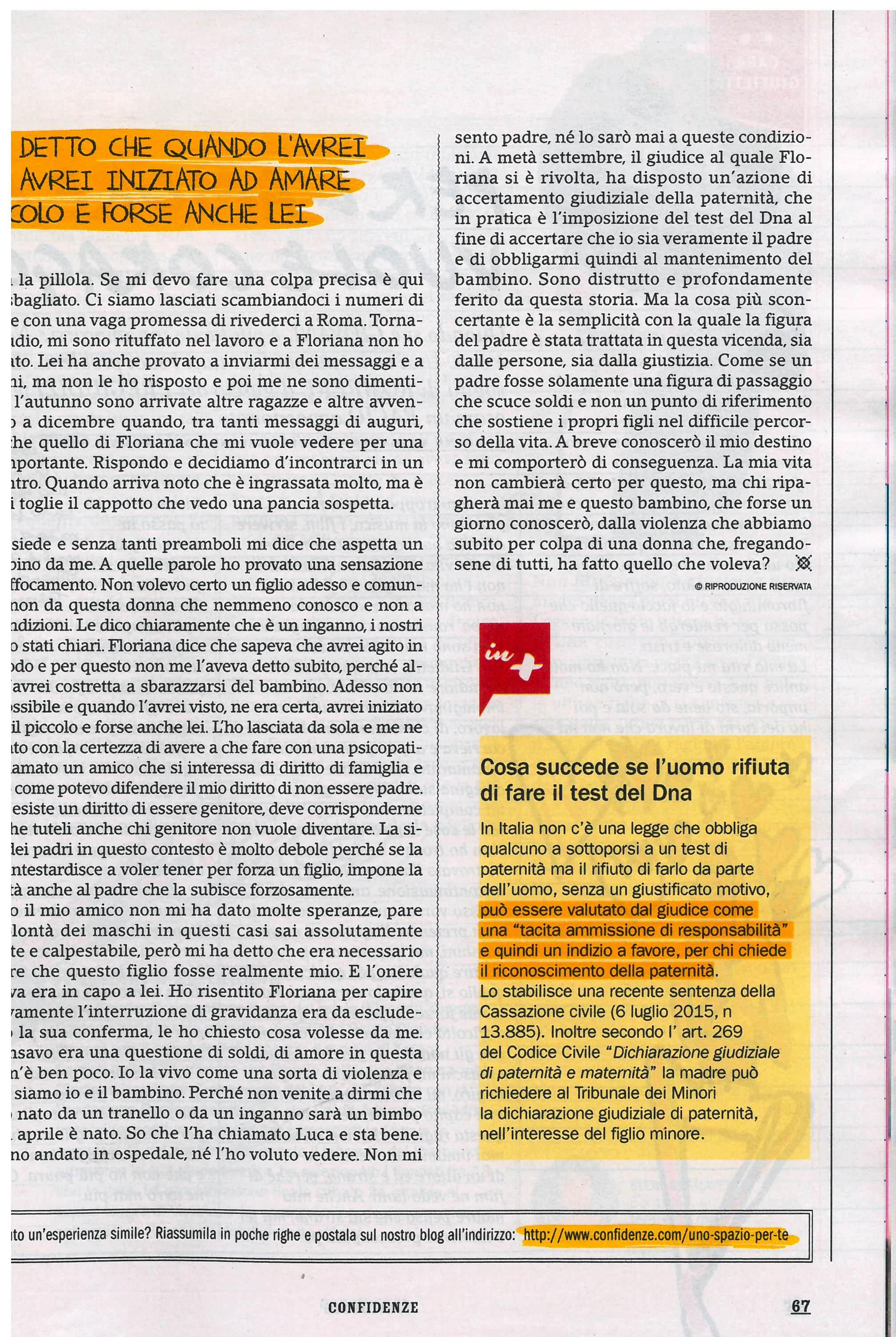 Storia di Giorgio - Confidenze nr. 43 Ottobre 2017_Pagina_2